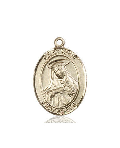st_rose_of_lima_medal_14kt_gold