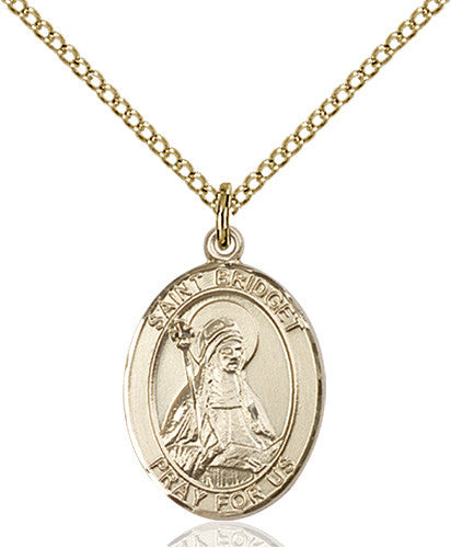 Image of St. Bridget of Sweden Pendant (Gold Filled)