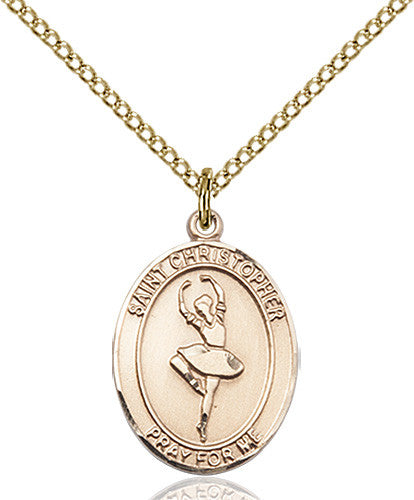 Image of St. Christopher/Dance Pendant (Gold Filled)