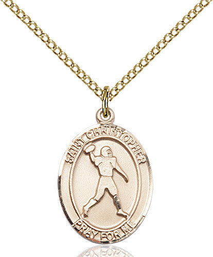 Image of St. Christopher/Football Pendant (Gold Filled)