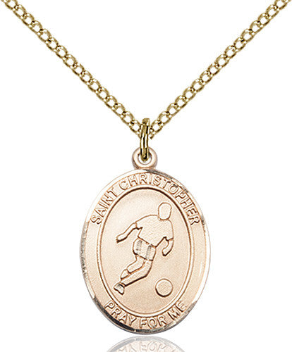 Image of St. Christopher/Soccer Pendant (Gold Filled)