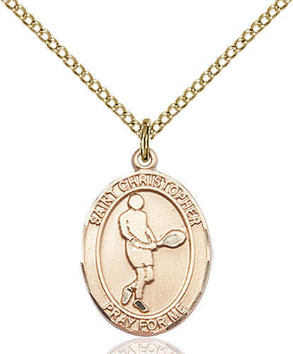 Image of St. Christopher/Tennis Pendant (Gold Filled)