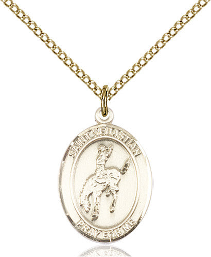 Image of St. Sebastian / Rodeo Pendant (Gold Filled)