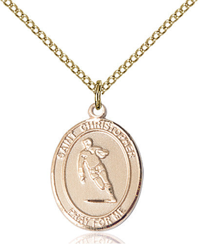 Image of St. Christopher / Rugby Pendant (Gold Filled)