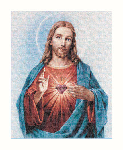 Image of SACRED HEART 8X10 CANVAS