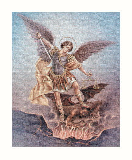Image of ST. MICHAEL 8X10 CANVAS