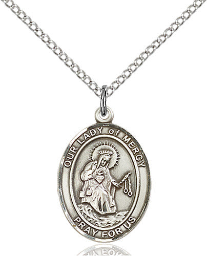Image of Our Lady of Mercy Pendant (Sterling Silver)