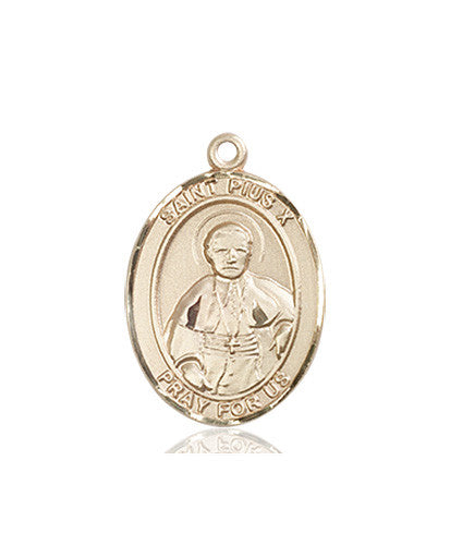 st_pius_x_medal_14kt_gold