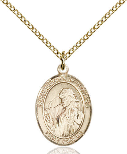 Image of St. Finnian of Clonard Pendant (Gold Filled)