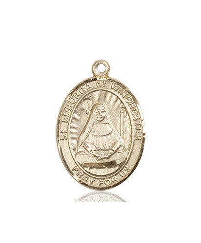 Image of St. Edburga of Winchester Medal (14kt Gold)