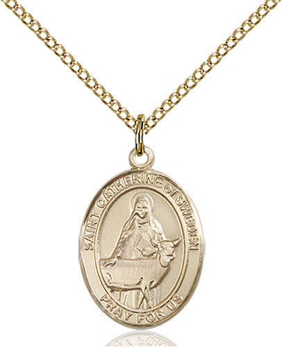 Image of St. Catherine of Sweden Pendant (Gold Filled)