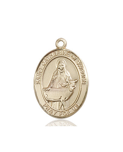 Image of St. Catherine of Sweden Medal (14kt Gold)