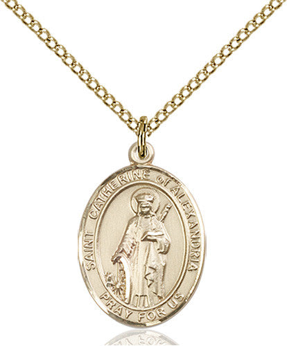 Image of St. Catherine of Alexandria Pendant (Gold Filled)