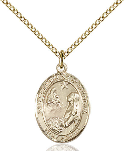 Image of St. Catherine of Bologna Pendant (Gold Filled)