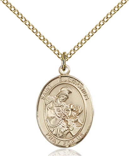 Image of St. Eustachius Pendant (Gold Filled)