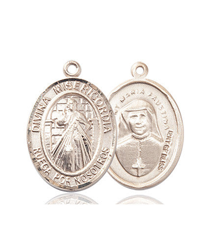 Image of Divina Misericordia Medal (14kt Gold)