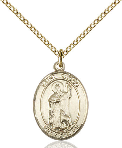Image of St. Drogo Pendant (Gold Filled)
