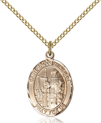 Image of St. Jacob of Nisibis Pendant (Gold Filled)