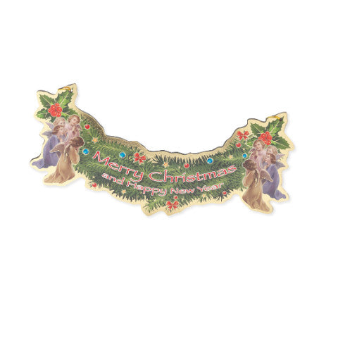 CHRISTMAS & NEW YEAR GARLAND SHAPED BANNER