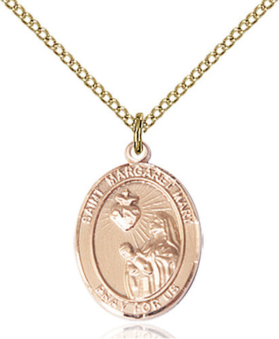 St. Margaret Mary Alacoque Pendant (14 Karat Gold Filled)
