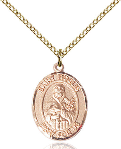 Image of St. Fidelis Pendant (Gold Filled)