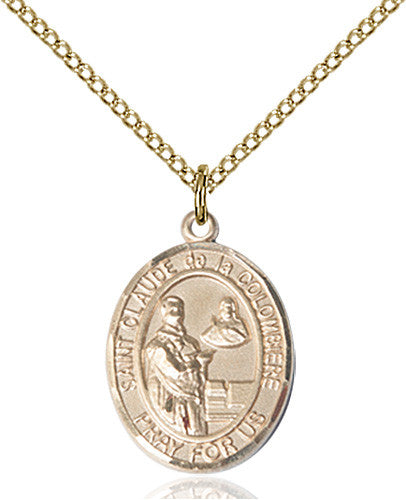 Image of St. Claude de la Colombiere Pendant (Gold Filled)