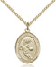 Image of St. Christopher/Basketball Pendant (Gold Filled)