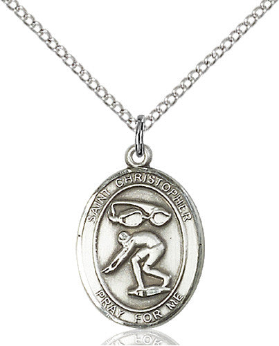 st_christopher_swimming_pendant