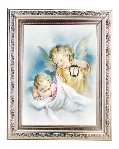 guardian_angels_with_lantern_silver_frame