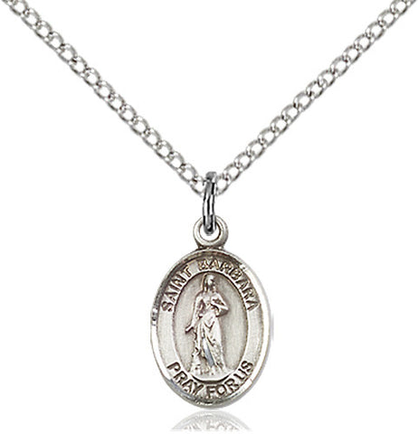 Image of St. Barbara Pendant (Sterling Silver)