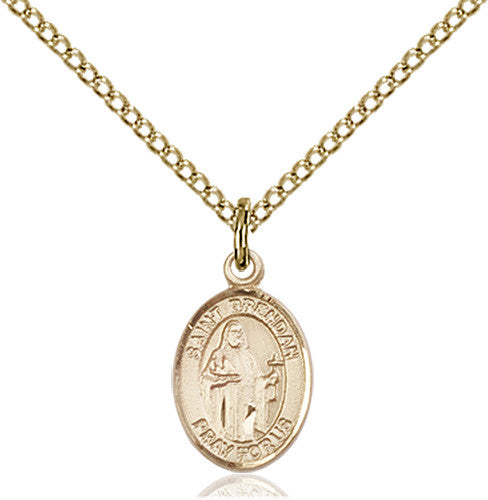 Image of St. Brendan the Navigator Pendant (Gold Filled)