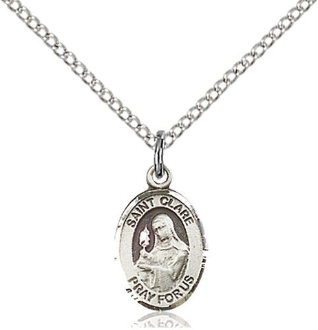 Image of St. Clare of Assisi Pendant (Sterling Silver)