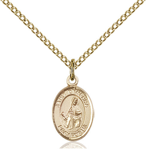 Image of St. Dymphna Pendant (Gold Filled)