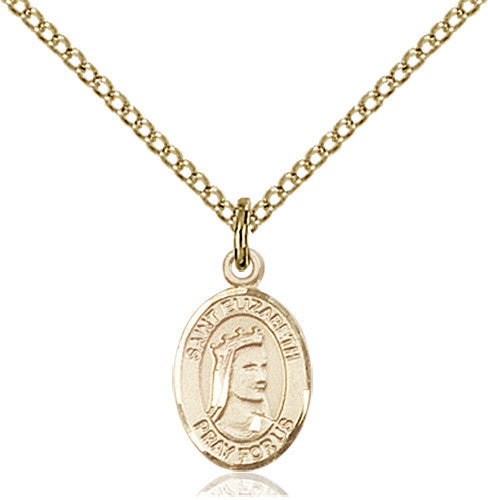 Image of St. Elizabeth of Hungary Pendant (Gold Filled)