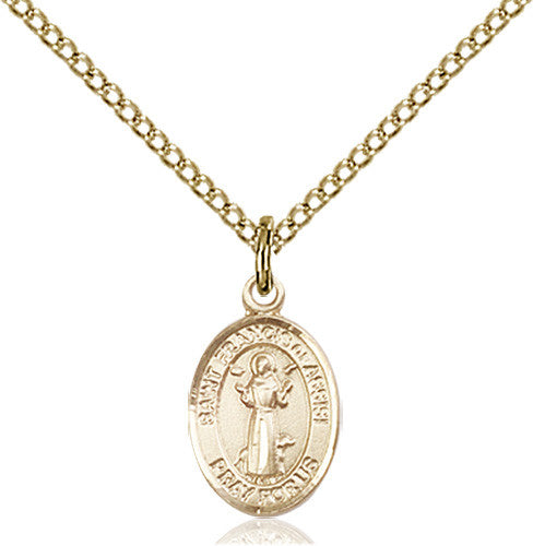 St francis of assisi pendant 14 karat gold filled catholic image of st francis of assisi pendant gold filled aloadofball Choice Image