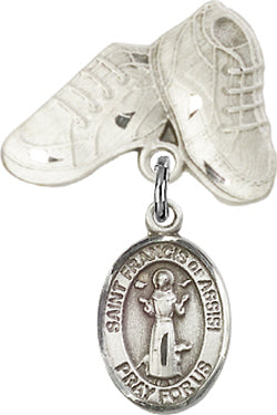 Baby Medal Sterling Silver- Saint St Francis of Assisi