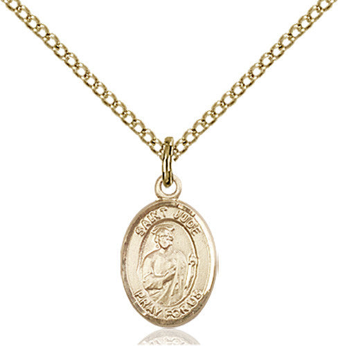 St jude thaddaeus image of st jude thaddeus pendant gold filled mozeypictures Gallery