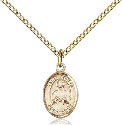 Image of St. Kateri Pendant (Gold Filled)