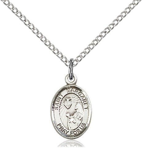 St. Margaret Mary Alacoque Pendant (Sterling Silver)