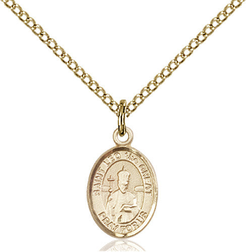 Image of St. Leo the Great Pendant (Gold Filled)