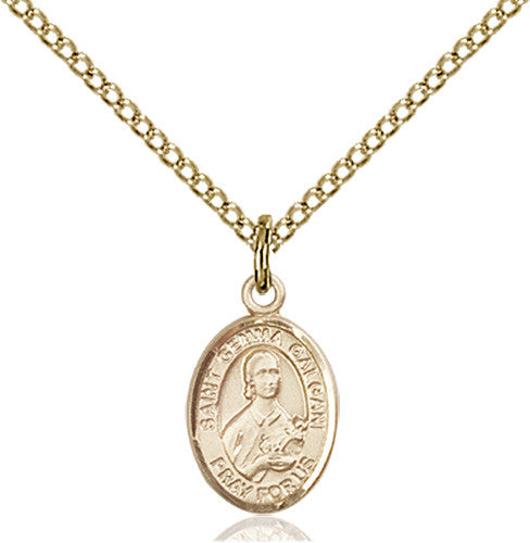 Image of St. Gemma Galgani Pendant (Gold Filled)