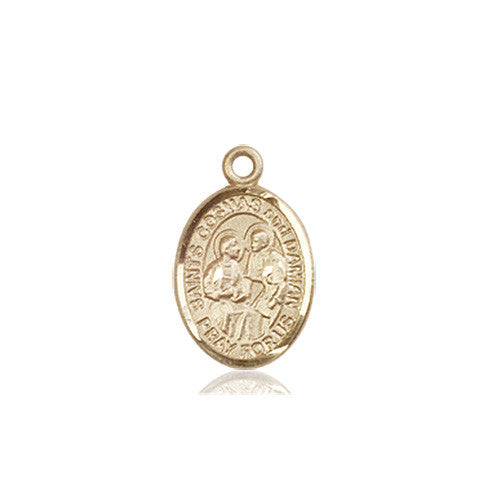 sts_cosmas_and_damien_medal_14kt_gold
