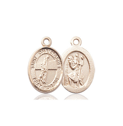 Image of St. Christopher/Volleyball Medal (14kt Gold)