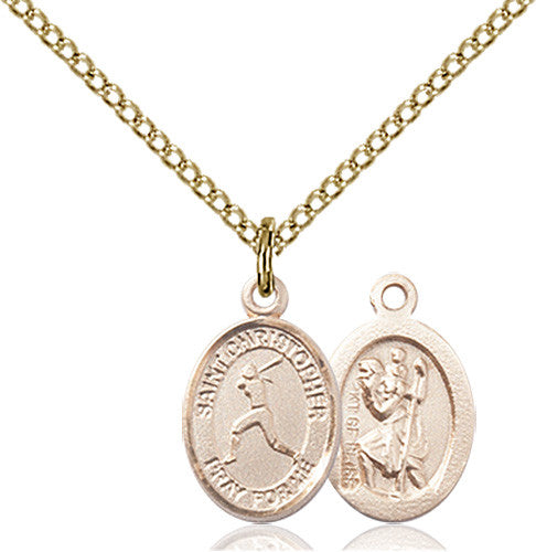 Image of St. Christopher/Softball Pendant (Gold Filled)