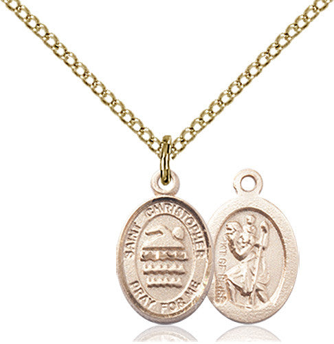 Image of St. Christopher/Swimming Pendant (Gold Filled)