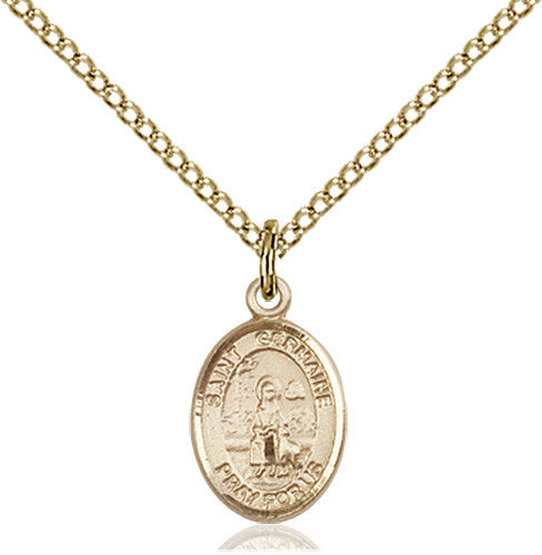 Image of St. Germaine Cousin Pendant (Gold Filled)