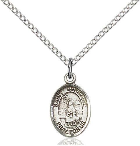 Image of St. Germaine Cousin Pendant (Sterling Silver)