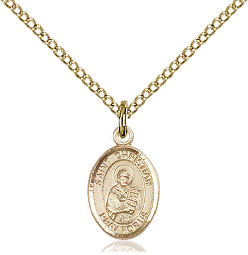 Image of St. Christian Demosthenes Pendant (Gold Filled)