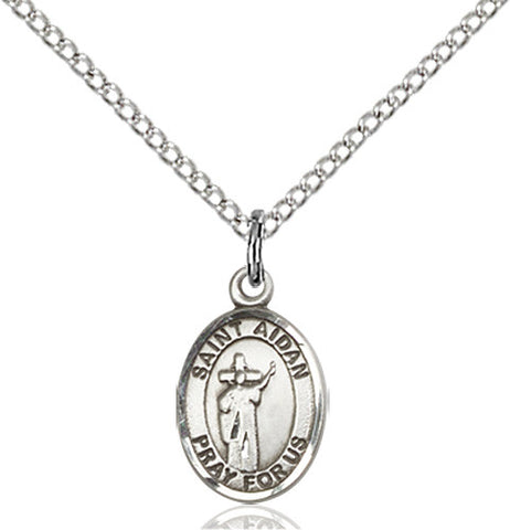 Image of St. Aidan Of Lindesfarne Pendant (Sterling Silver)