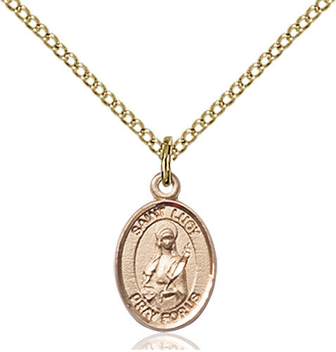 Image of St. Lucy Pendant (Gold Filled)